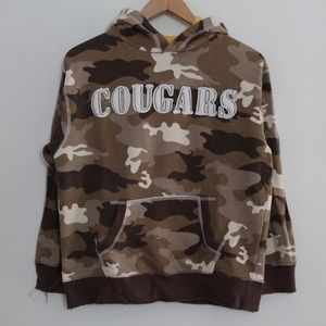 The Childrens Place Camo Distressed Fleece Hoodie